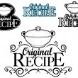 Original Recipe Seal / Mark — Stock Vector