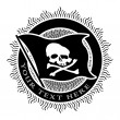 Stock Vector: Pirate Seal in Black and White