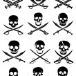 Crossed Swords with Skulls — Stock Vector