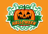 Halloween Pumpkin Vector Sticker — Stock Vector