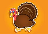 Thanksgiving Turkey Ilustration — Stock Vector