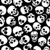 Cráneos patern inconsútil — Vector de stock