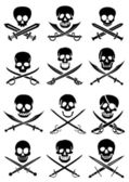 Crossed Swords with Skulls — Stockvector