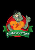Zombie Approved Seal — Stock Vector
