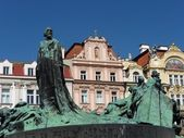 Jan Hus Monument, Prague — Stock Photo