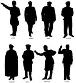 Great Dictators Silhouettes — Stock Vector