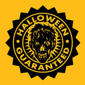 Halloween Guaranteed Seal — Stock Vector