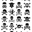 Crossed Swords with Skulls — Vector de stock #14000235
