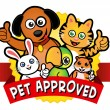 Stock Vector: Pet Approved Seal