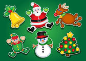 Christmas Stickers, Labels — Stock Vector