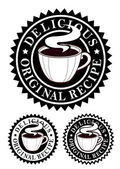 Original Recipe Emblem, Hot Drinks — Stock Vector