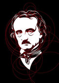 Portrait of Edgar Allan Poe vector — Stock Vector