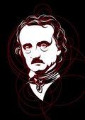Portrait von Edgar Allan Poe-Vektor — Stockvektor