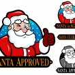 Santa Approved, is Agree, Guaranteed Seal, Icon, Mark — Stock Vector