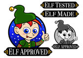 Elf Approved, Tested, Made Icon, Mark, Seal — Stock Vector