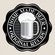 Home Made Beer / Original Recipe Seal — Stock Vector