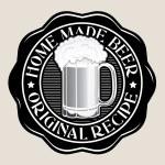 Home Made Beer / Original Recipe Seal — Stock Vector