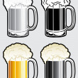Beer Mug Illustration — Stockvectorbeeld