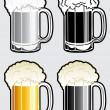 Beer Mug Illustration — Stock Vector