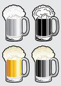 Ilustración de taza de cerveza — Vector de stock