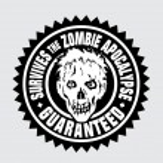 Survives the Zombie Apocalypse / Guaranteed — Stock Vector