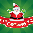 After Christmas Sale banner / Santa — ベクター素材ストック