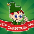 After Christmas Sale banner / Elf — ベクター素材ストック