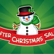 After Christmas Sale banner / Snowman — ベクター素材ストック