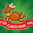 Stock Vector: After Christmas Sale banner / Reindeer