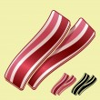 Bacon Strips — Stock Vector