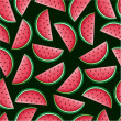 Watermelon Seamless Pattern - Stock Vector