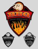 BBQ - Original American Recipe Seal / Badge — Stock Vector