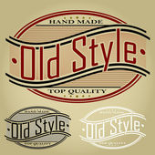 Old Style Retro Styled Seal or Label — Stock Vector