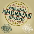 Original American Recipe Seal or Badge — Stock Vector