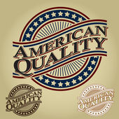 American Quality Retro Seal — Stock Vector