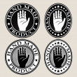 Royalty-Free Stock Vector Image: Hand Made Seal or Label