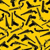 Arme de poing silhouettes modèle sans couture — Vecteur