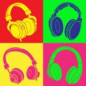 DJ Headphones POP Design — Stock Vector