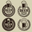 Retro Styled Beer Seals or Labels — Stock Vector #22059401