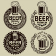 Retro Styled Beer Seals or Labels — Stock Vector