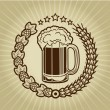 Vintage Beer Mug Seal — Stock Vector