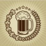 Vintage Beer Mug Seal — Stock Vector