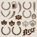 Beer Ingredients Ornamental Designs — Stock Vector #22127761