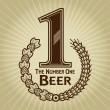 Royalty-Free Stock Vector Image: The Number One Beer Seal or Mark