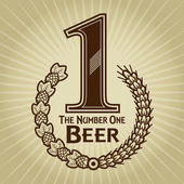 The Number One Beer Seal or Mark — Stock Vector