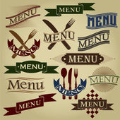 Vintage Styled MENU Calligraphic Designs — Stock Vector