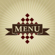 Retro Styled MENU Design — Stock Vector