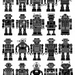 Vintage Tin Toy Robot Collection — Stock Vector #40986743