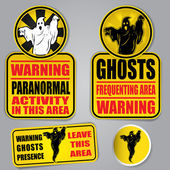 Warning Ghosts Signs — Stock Vector