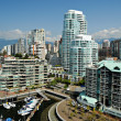 Downtown Vancouver Waterfront, British Columbia, Canada - Stock Photo